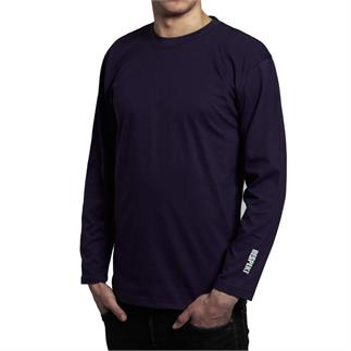Modré tričko s dlouhým rukávem a logem
