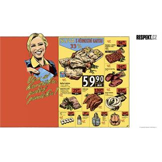 Ilustrace z titulní strany Respektu 45/2012