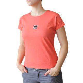 Dámské tričko s krátkým rukávem v barvě coral