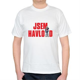 Pánské bílé triko s nápisem JSEM HAVLOID