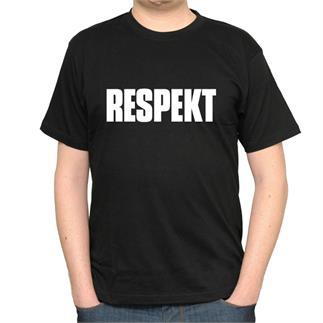 Pánské černé triko s nápisem Respekt