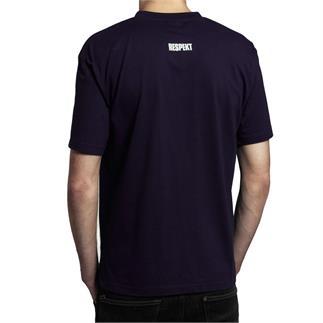 Modré tričko do V s krátkým rukávem a logem