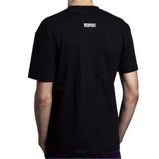 Černé tričko do V s krátkým rukávem a logem