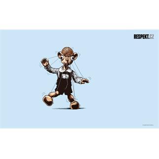 Ilustrace z titulní strany Respektu 49/2012