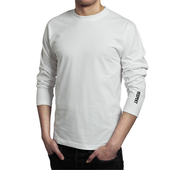 98a211d9d89f Bílé tričko s dlouhým rukávem a logem